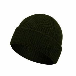 Cuff Beanie Plain Knit Hat Winter Cap Slouchy Skull Ski Adult Men Women Warm Hat