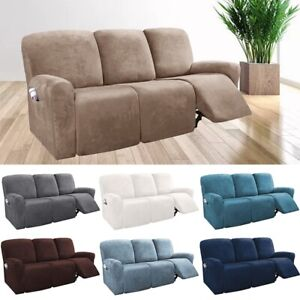 1-3 Seat Recliner Sofa Cover Stretchy Couch Slipcover Sofa Protector Full Covers