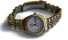 Vintage Womens Geneve Swiss Gold Plated Presidential Day Date Watch Fluted Bezel