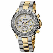 Women's August Steiner AS8031TTG Crystal Chronograph Two-tone Bracelet Watch