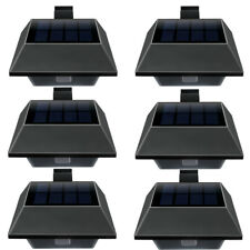 6pcs Solar Power 6LED Garden Fence Light lobby Yard Wall Gutter Pathway Lamp