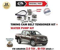 Pour VW Amarok 2.0 Tdi + Bi 2010- > Tendeur Courroie Distribution Kit + Eau