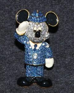 Disney Disneyland Swarovski Arribas Mickey Mouse Air Force Miniature Figure