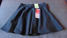 "M&S Stormwear Adj.Waist Fashion Skater School Skirt 3-4y W21"" 104cm Black BNWT"