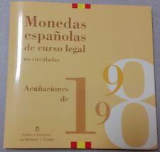 España 1998. Coleccion OFICIAL de Monedas de PESETAS de Curso Legal de la FNMT.