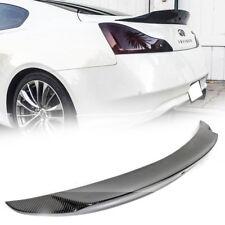 Carbon Fiber For INFINITI G37 V36 2D Coupe V Style Sport Trunk Spoiler 2015