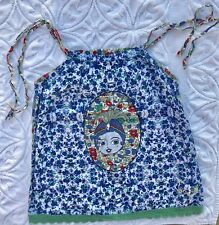 Desigual Girls Shirt Tank Top Blue Green Red Floral 9 10 EUC