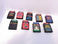 Lot of 9 Intellivision Games & Overlays Snafu Armor Battle Sub Hunt Tron & More!