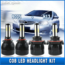 H13 9008 Cob LED Headlight + 9145 9140 Fog Lights Combo for 2004-2014 Ford F-150
