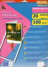 20 jaquettes à imprimer pour boîtier DVD