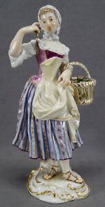 Meissen Cries De Paris Series 2350 Flower Seller Female Figurine C. 1860-1924