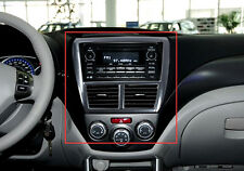 Carbon fiber Style Middle Console Panel Cover Trim For Subaru Forester 2009-2012