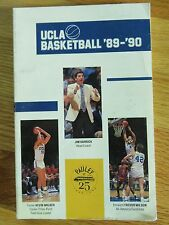 1989 UCLA BRUINS Basketball Media Guide KEVIN WALKER JIM HARRICK TREVOR WILSON