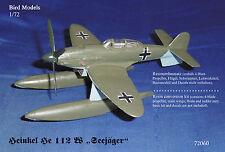 "Heinkel He 112 W ""Seejäger""  1/72 Bird Models Resinumbausatz / resin conversion"