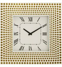 Deluxe Large Mirrored Wall Clock With Gold Square Wall Clock 50cm Glass