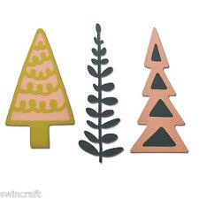 Sizzix Thinlits Die Taglio Stencil sbalzo Decorativo Alberi di Natale 660878 *