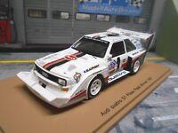 AUDI Sport Quattro S1 1987 Winner Pikes Peak Rallye #1 Röhrl Spark Resin 1:43