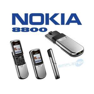 TELEFONO CELLULARE NOKIA 8800 SILVER ARGENTO FOTOCAMERA LUXURY PHONE-