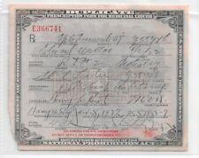 Prescription Form for Medicinal Liquor National Prohibition Act, 1929