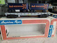 American Flyer 4-9000 B&O flatcar w/ 2 piggyback TOFCEE Vans Estate Lot 393, 394
