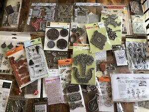 Large Lot Of Mixed Brand Cling Unmounted Rubber Stamps