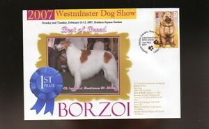 WESTMINSTER DOG SHOW 1st PLACE BEST OF BREED SOUV COVER, BORZOI
