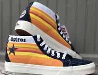 NEW Vans Sk8 Mid Astros Blue Nights Retro Tequila Sunrise Rainbow MLB Mens
