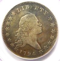 1794 Flowing Hair Bust Half Dollar 50C - Certified PCGS Genuine - Fine Details!