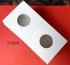 (100) Nickel  Size 2 X 2 Mylar Cardboard Coin Flips for Coin Storage