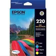 Epson Genuine 220 Value 4 Pack Ink Cartridges WF 2630 2650 2660 NEW & SEALED
