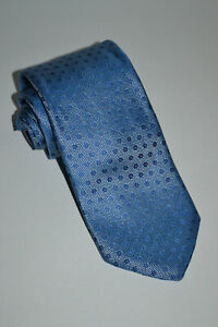 NWT $145 BALANI Custom Clothiers Iridescent Blue w/Pink Floral Silk Tie Italy XL