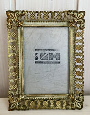 Vintage Brass Danish Photo Frame Art Home Decor Glass 12 x 16 cm