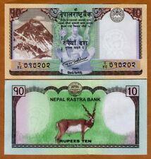 Nepal, 10 Rupees, 2017, P-New, UNC > Everest, Deer