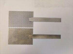"""Platinum Mesh Anode and Titanium Mesh Cathode Set, 2"""" x 3"""" with stem handle"""