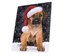 Let it Snow Christmas Rhodesian Ridgeback Dog Woven Throw Sherpa Blanket T115