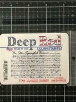 Deep Red Rubber Cling Stamp Rules of the Inn from 1786