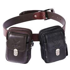 Hombres Bolso Piel Riñonera Hip Bum Cinturón Teléfono móvil Cintura Bolsa Bag