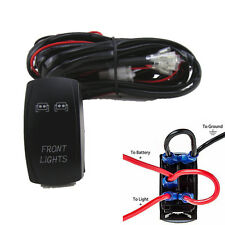 ATV/RV Front/Fog/Work Light Bar Wiring Harness 40 Amp Relay ON-OFF Laser Rocker