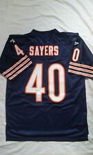 Gale Sayers Chicago Bears Autograph Reebok Throwback Navy Orange Large Jersey