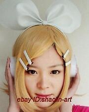 Wigs,VOCALOID 2 Kagamine Rin ,jaune court animation Cosplay fête cheveux