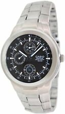 Casio Men's Edifice EF305D-1AV Silver Resin Quartz Watch with Black Dial