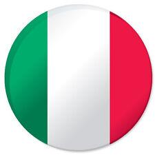 """ITALY Italian flag car bumper sticker decal 4"""" x 4"""""""