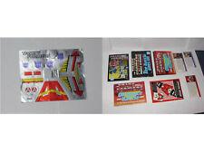 Transformers G1 paperwork catalogues Blitzwing sticker sheet lot - TTT69