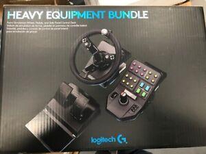 Logitech G Farm Simulator Heavy Equipment Bundle (2nd Gen) Wheel, Pedals,Panel