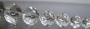 300 Kristall Perlen, 14 mm Ø, geschliffen,  Bleikristall, 30 % Hochwertiges Blei