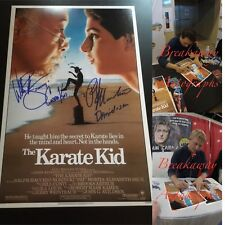 RALPH MACCHIO + WILLIAM ZABKA SIGNED 12X18 PHOTO EXACT PROOF COA KARATE KID 2