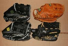 "Mizuno, Rawlings, Wilson 13"" Softball Glove Lot"