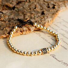 Fashion Luxury Zircon Tire Copper Beads Personality Bracelets Men Women Gift