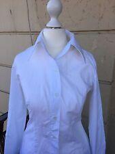 BENETTON Bluse weiß lange Ärmel Baumwolle Größe S neuwertig