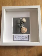 Pebble art picture Wedding Couple
